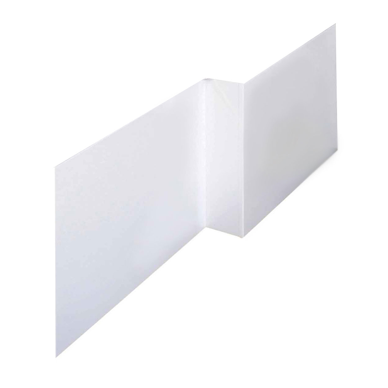 L Shape Shower Bath Panels High Gloss White
